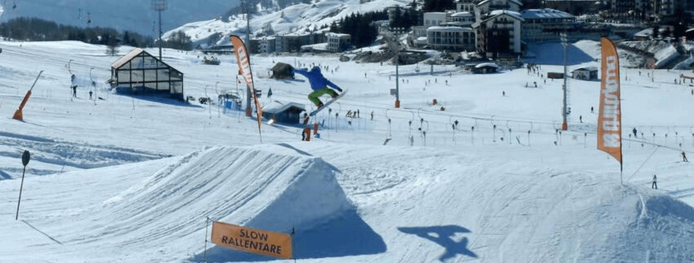 Wyjazd snowboardowy Montgenevre, Francja. Super snowpark.